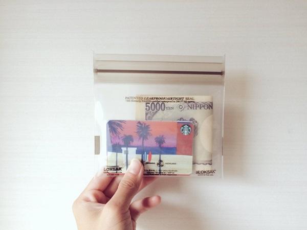 ジップロック財布